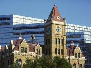 Old and New City Halls, Calgary, Alberta, Canada, North America by Simanor Eitan