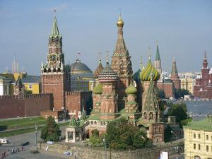 St. Basil's Cathedral and the Kremlin, Red Square, UNESCO World Heritage Site, Moscow, Russia by Simanor Eitan