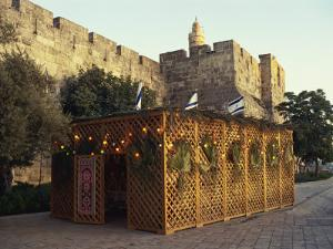 Succot, Festival of the Tabernacles, Tower of David, Jerusalem, Israel, Middle East by Simanor Eitan