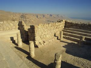 Synagogue, Masada, UNESCO World Heritage Site, Israel, Middle East by Simanor Eitan