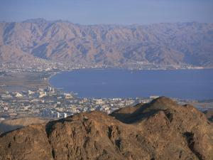View over Gulf of Eilat, Eilat, Israel, Middle East by Simanor Eitan
