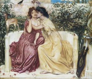 Sappho and Erinna in the Garden Mytelene by Simeon Solomon