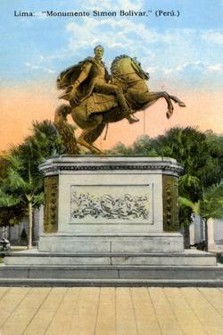 Simon Bolivar Monument, Lima, Peru, Early 20th Century