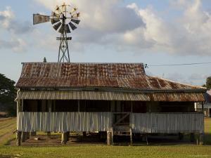 Old Farmhouse with Windmill in Sugar Farming Heartland, Cordelia by Simon Foale