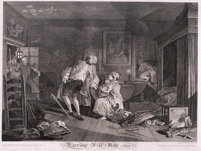 Marriage a La Mode, Plate V, 1745