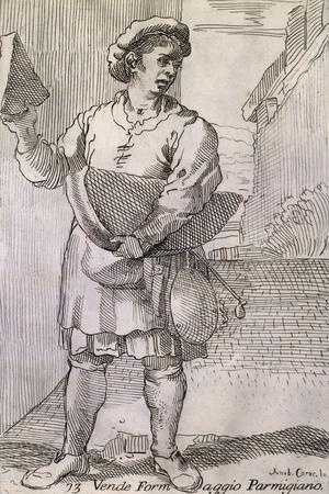 Arts of Bologna: Seller of Parmesan Cheese