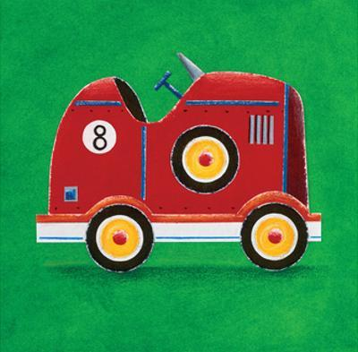 Red Racing Car - Number 8 by Simon Hart
