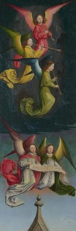 A Choir of Angels (From the St Bertin Altarpiec), Ca 1459 by Simon Marmion