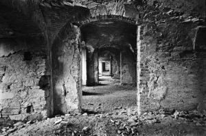 Interior of Bontida Castle, Transylvania, Romania by Simon Marsden