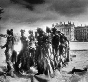 Statues Infront of the Neus Palais, Potsdam, Germany by Simon Marsden