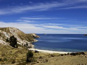 Bay on Isla del Sol, Lake Titicaca, Bolivia, South America by Simon Montgomery