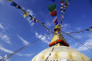 Boudha (Bodhnath) (Boudhanath) Tibetan Stupa in Kathmandu, UNESCO World Heritage Site, Nepal, Asia by Simon Montgomery