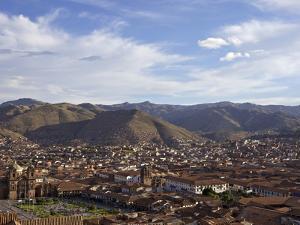 Cusco and Mountains, Peru, Peruviann, Latin America, Latin American South America by Simon Montgomery