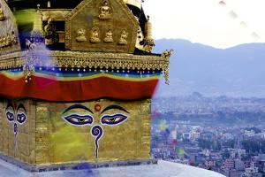 Higher View of the Buddhist Stupa by Simon Montgomery
