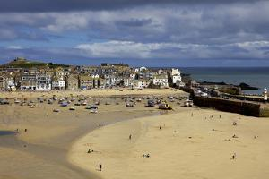 Looking across the Harbour at St. Ives at Low Tide Towards St. Ives Head, Cornwall, England by Simon Montgomery