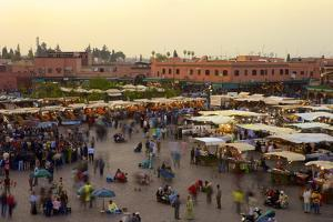 Marrakesh at Dusk, Djemaa El-Fna, Marrakech, Morocco, North Africa, Africa by Simon Montgomery