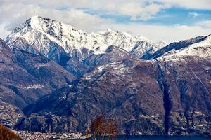Monte Legnone mountain by Lake Como, Lombardy, Italian Lakes, Italy by Simon Montgomery
