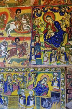 Murals in Christian Monastery and Church of Azuwa Maryam, Zege Peninsula, Lake Tana, Ethiopia by Simon Montgomery