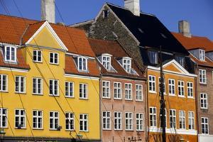 Old Buildings in Famous Nyhavn Harbour Area of Copenhagen, Denmark, Scandinavia, Europe by Simon Montgomery
