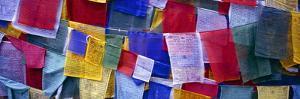Prayer Flags, Tashiding, Sikkim, Northern India, India, Asia by Simon Montgomery