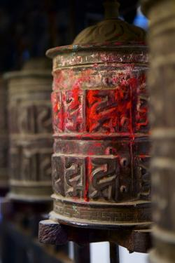 Prayer Wheels, Kathmandu, Nepal, Asia by Simon Montgomery
