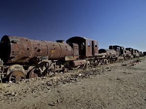 Rusting Locomotive at Train Graveyard, Uyuni, Bolivia, South America by Simon Montgomery