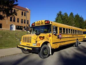 School Bus, St Joseph, Missouri, Midwest, United States of America, North America by Simon Montgomery