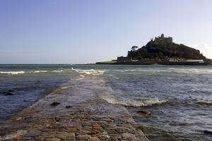 The Old Stone Causeway Leading to St. Michaels Mount Submerged by the Incoming Tide by Simon Montgomery