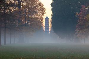 The Pagoda at Twilight in Kew Gardens, UNESCO World Heritage Site, Kew, Greater London, England, UK by Simon Montgomery