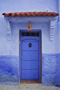 Traditional Bluehouse, Chefchaouen (Chefchaouene), Morocco, North Africa, Africa by Simon Montgomery