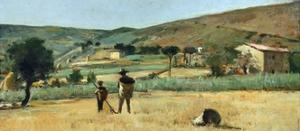 Countryside with Peasants by Simon Quaglio