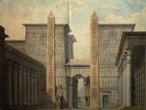 Set Design for the Court of the Temple by Simon Quaglio