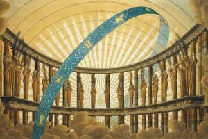 Set Design of the Temple of the Sun by Simon Quaglio