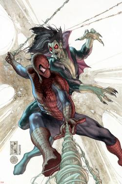 The Amazing Spider-Man No.622 Cover: Spider-Man and Morbius by Simone Bianchi