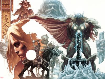 Thor: For Asgard No.1 Cover: Thor Standing by Simone Bianchi
