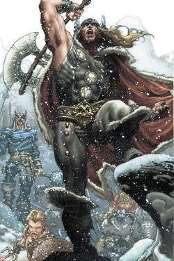 Thor: For Asgard No.1: Thor Smashing by Simone Bianchi