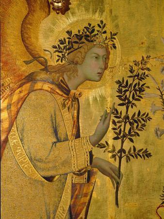 Annunciation, Detail of Gabriel