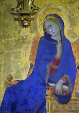 Annunciation, Detail of the Virgin by Simone Martini