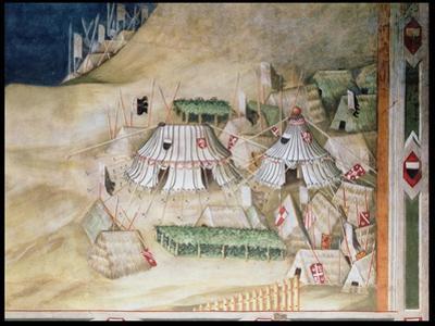 Commemoration of Guidoriccio Da Fogliano at the Siege of Montemassi, Detail of the Military… by Simone Martini