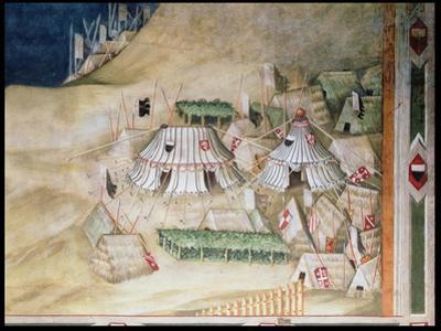 Commemoration of Guidoriccio Da Fogliano at the Siege of Montemassi, Detail of the Military…