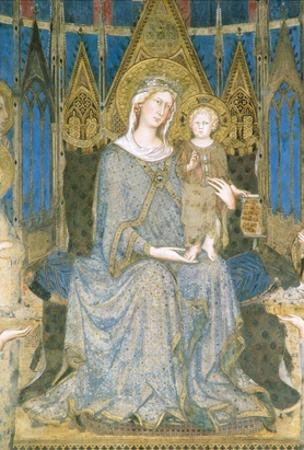 Detail of Virgin and Child Enthroned from Maesta by Simone Martini