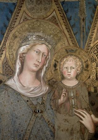 Maesta, Detail of the Madonna and Child, 1315 by Simone Martini