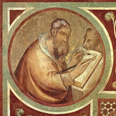 Maesta: St. Mark with the Lion, Detail from the Frame, 1315 (Detail)
