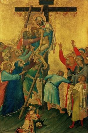 Orsini Polyptych: the Deposition from the Cross, 1335-1337 by Simone Martini