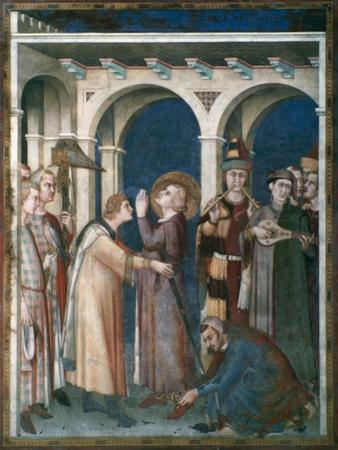 St Martin Is Knighted, 1312-1317 by Simone Martini