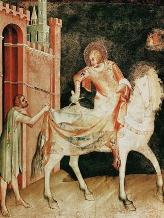 St. Martin Sharing His Cloak with the Beggar, from the Life of St. Martin, 1326