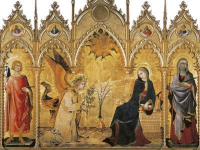 The Annunciation and Two Saints (Annunciazione E Due Santi) by Simone Martini