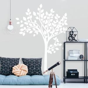 Simple White Tree Peel And Stick Giant Wall Decals