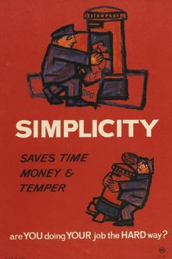 Simplicity Saves Time Money and Temper