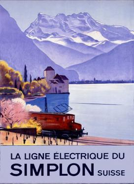 Simplon Electric Train Alps